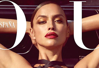 Hot damn! Irina Shayk sports racy lingerie on cover
