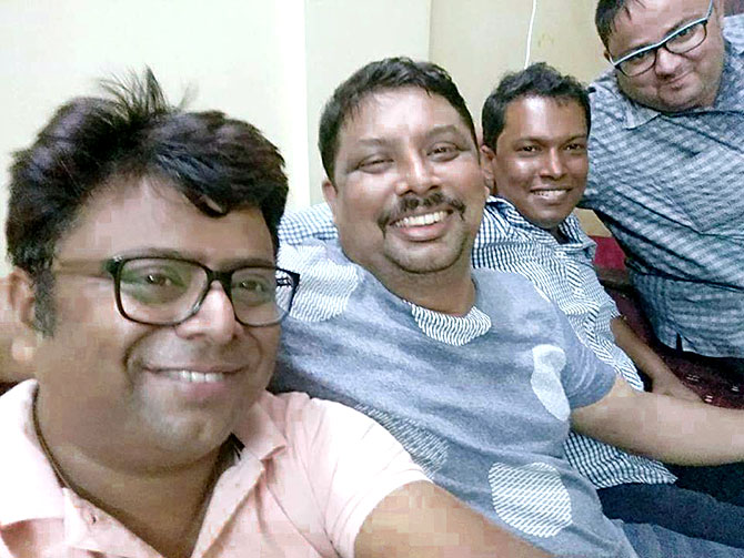 Subhash Kutty with friends