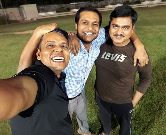 Vineet Sharma with Tarun Tyagi and Ankur Gupta