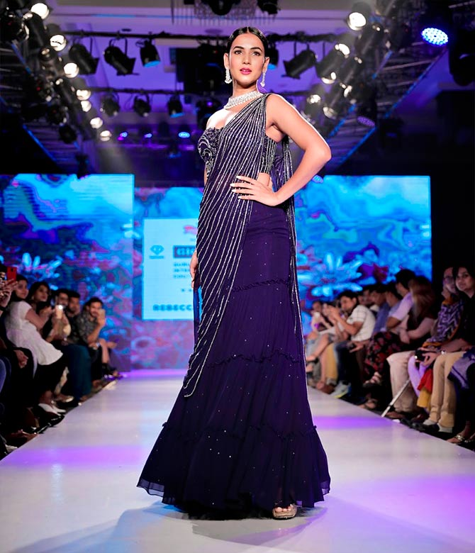 Sonal Chauhan walks for Rebecca Dewan
