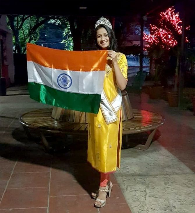 Sushmita Singh is first Indian to win Miss Teen World 2019