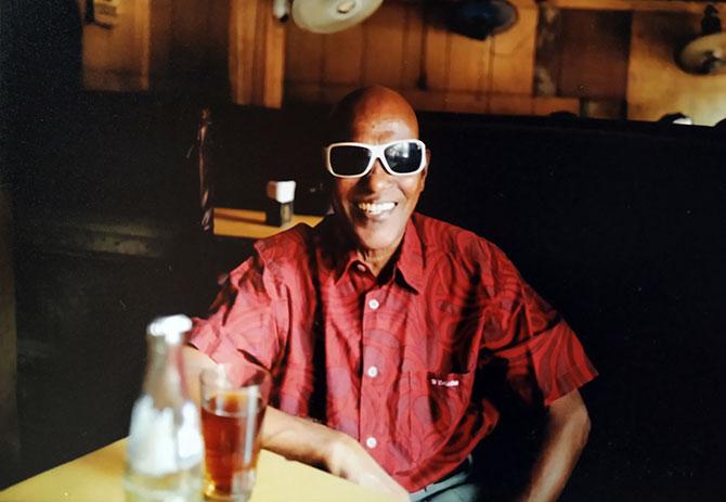 Joe at Bandra's Yacht resto bar, his favourite haunt. Photograph: Kind Courtesy Joe Vessoakar