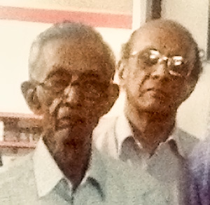 Kailas Swaminathan with his father