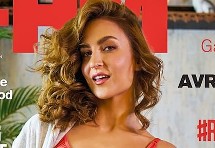 Naughty & flirty! Elli flaunts racy lingerie on cover