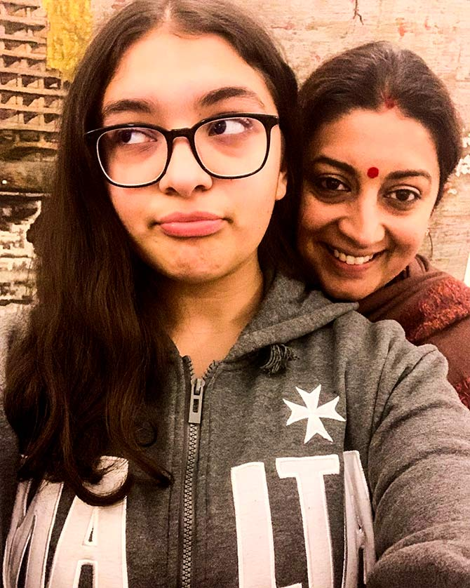 Smriti Irani and daughter Zoisha Irani