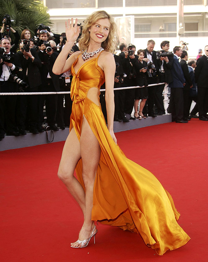 Eva Herzigova at Cannes in 2006