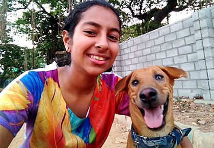 AJ from Bengaluru shares pics of her dogs