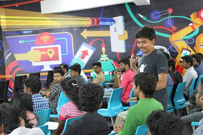 A start-up workshop in session at Kerala Technology Innovation Zone, Kalamassery, Kochi