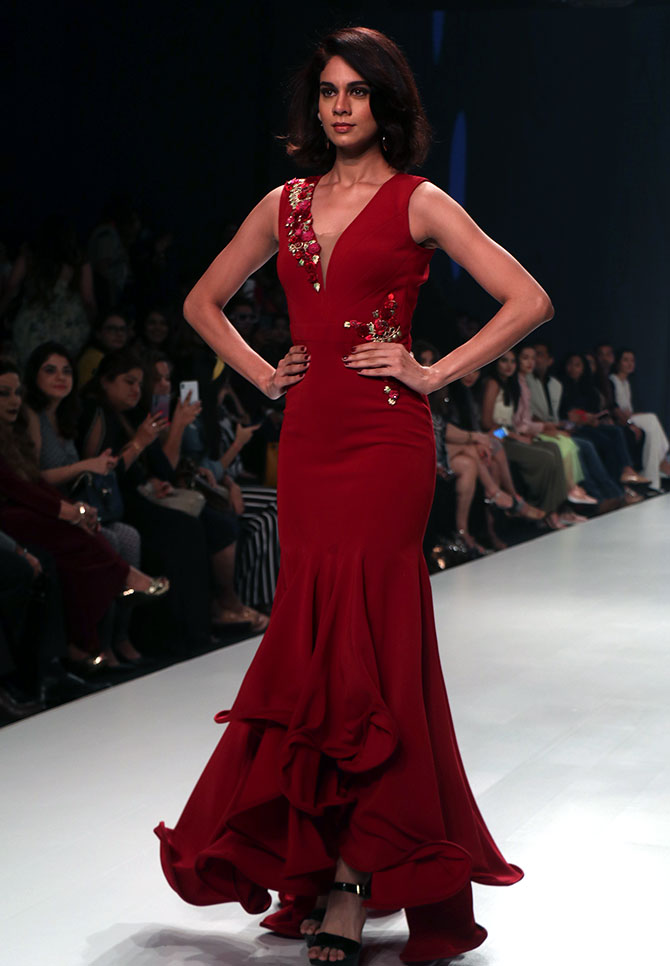 Archana Kochhar presents collection at Times Fashion Week