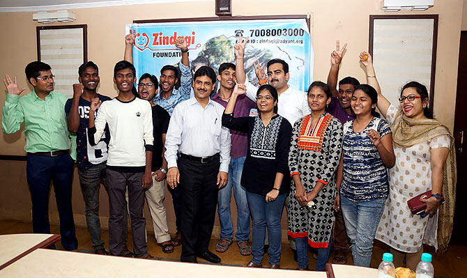 In 2017, Ajay Bahadur Singh started the Zindagi Foundation in Bhubaneshwar to coach financially challenged students and fulfill their dreams of pursuing medicine. Photographs: Kind courtesy Ajay Bahadur Singh