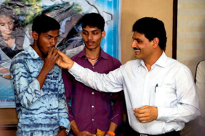 Ajay -- who plans to build classrooms and a hostel under the Zindagi Foundation -- treats the students like family.