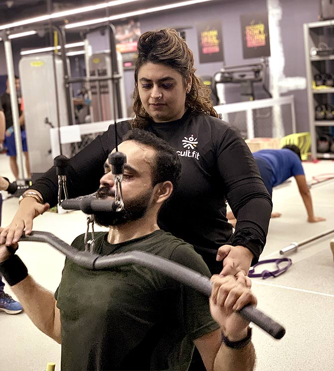 Hemant with his trainer Anmol