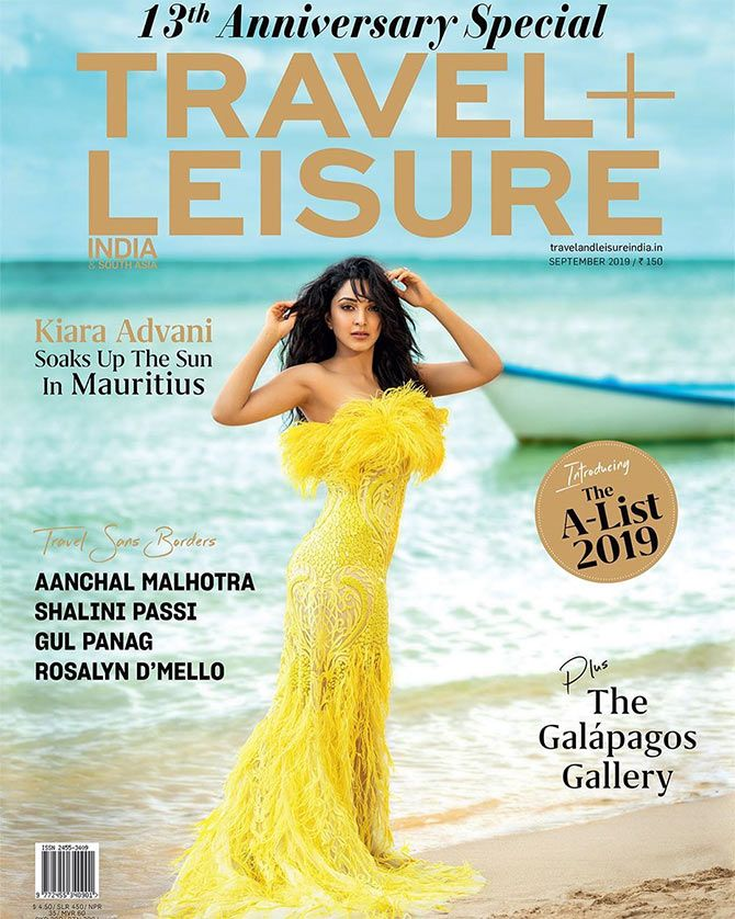 Kiara Advani on Travel and Leisure magazine cover