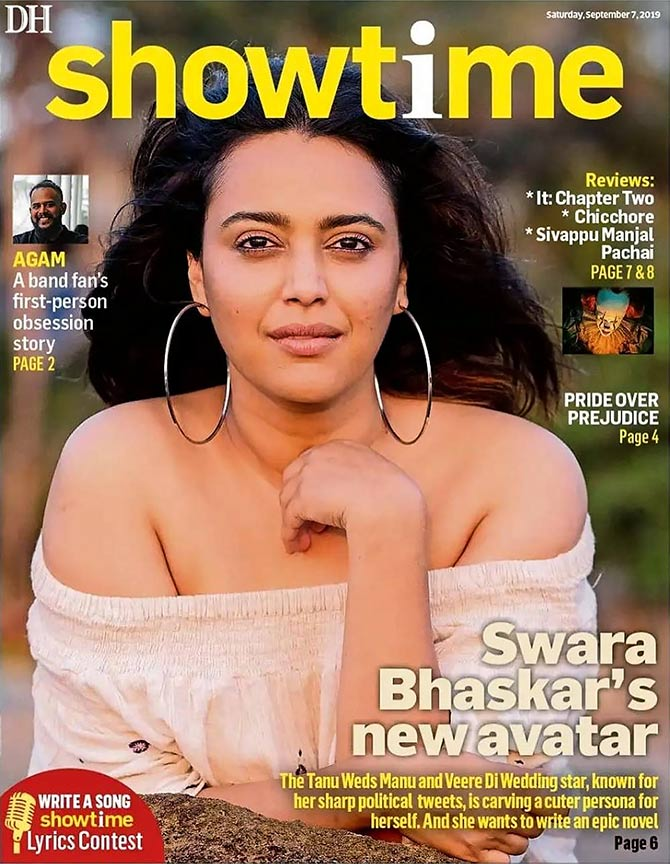 Swara Bhasker on Showtime cover