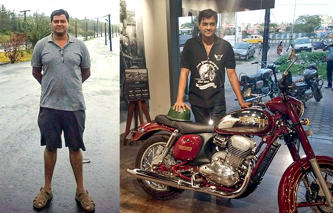 Anurag Chatterjee before and after losing weight
