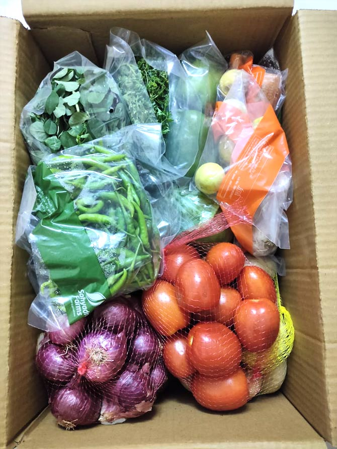 Veggies in a box