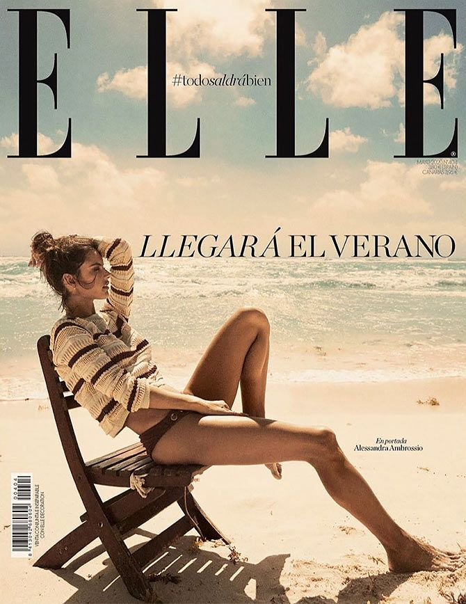 Alessandra Ambrosio on Elle cover