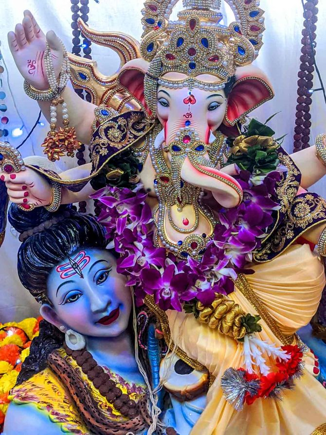 Rediff readers share pictures of Ganesha celebrations