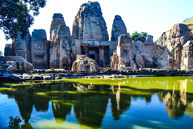 Rock cut temples in masrur, Kangra