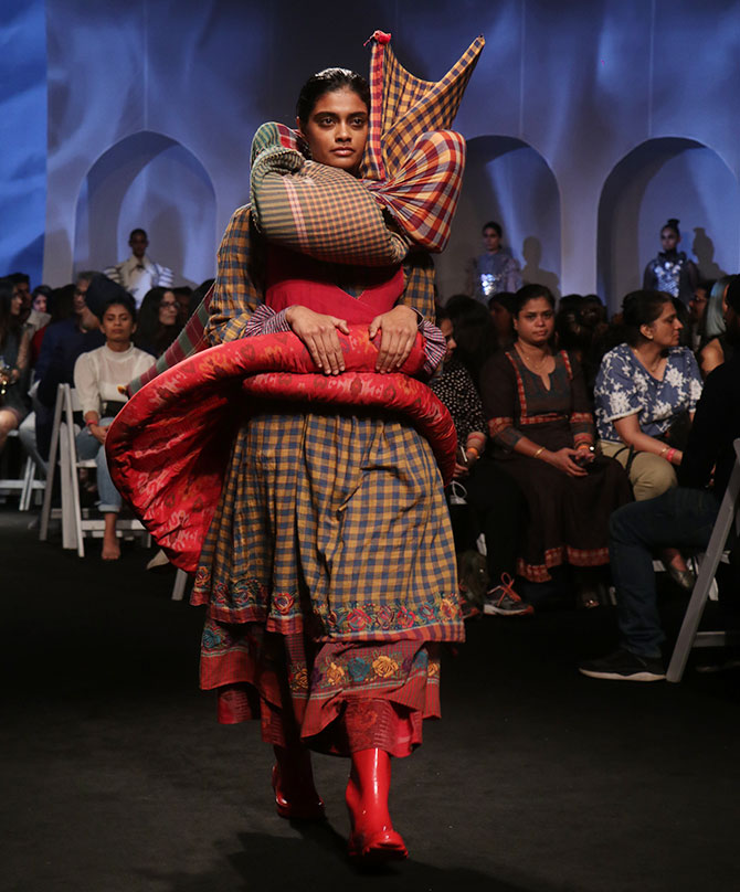 Models at Lakme fashion week 2020