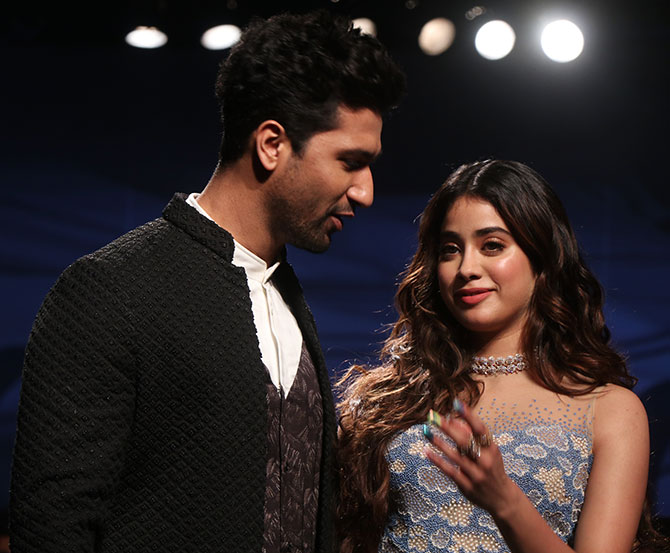 Janhvi Kapoor and Vicky Kaushal walk for Lakme Fashion Week Summer/Resort 2020 in Mumbai