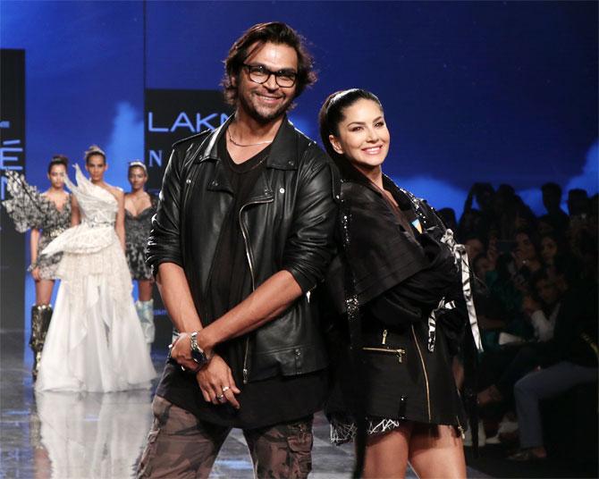 Sunny Leone for Swapnil Shinde at Lakme Fashion Week