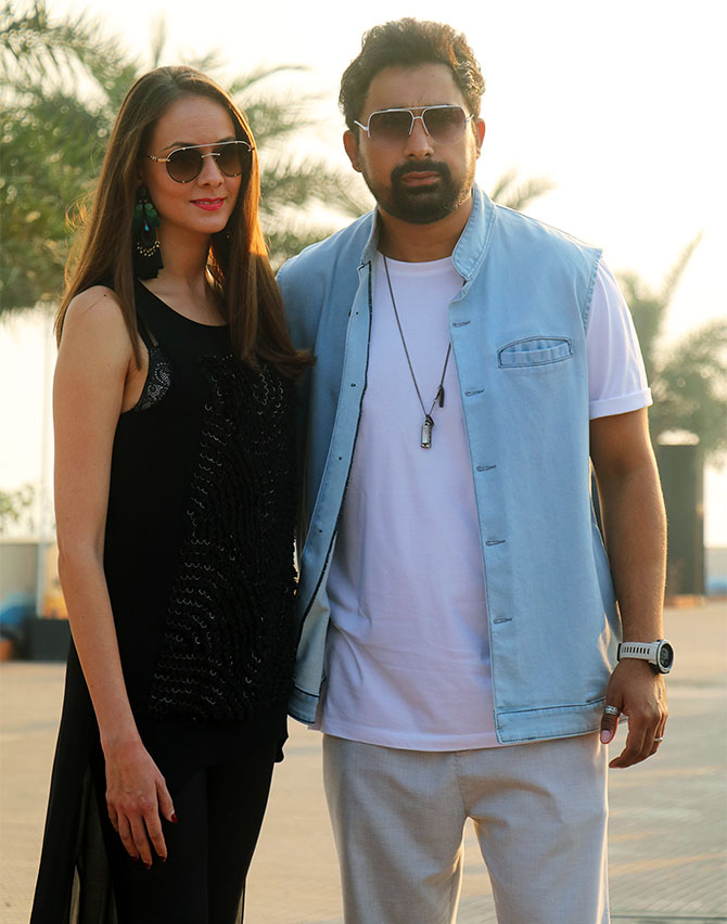 Rannvijay Singh and wife attend Lakme Fashion Week
