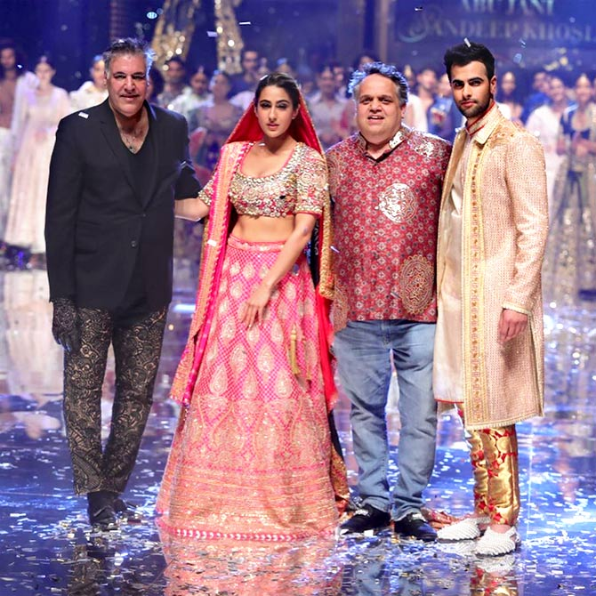Sara Ali Khan walks for Abu Jani and Sandeep Khosla at Blenders Pride Fashion Tour