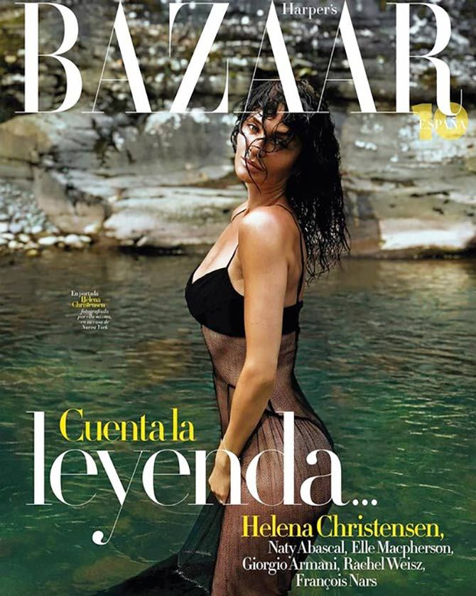 Helena Christensen on Harper's Bazaar Spain cover