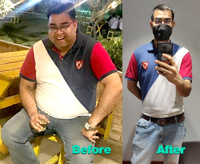 Rahul Datta lost 45 kg between July 2019 and March 2019