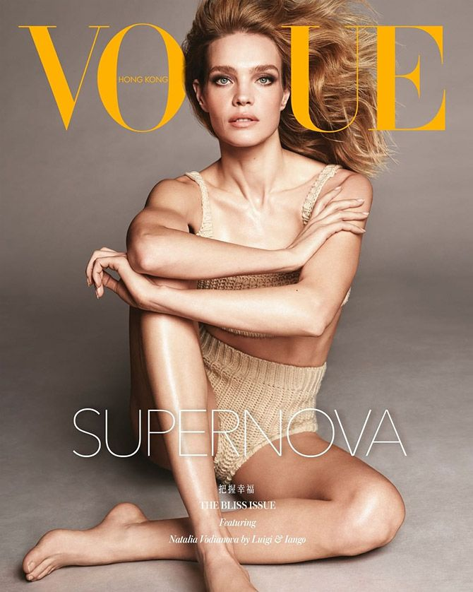 Natalia Vodianova poses for Vogue Hong Kong