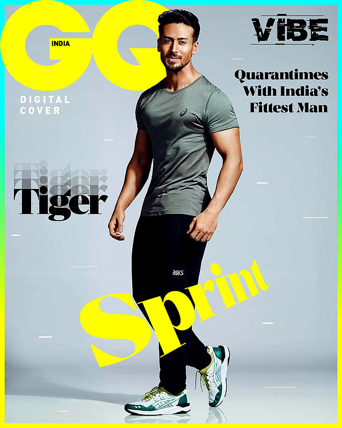 Tiger Shroff is on the cover of GQ magazine's May 2020 cover