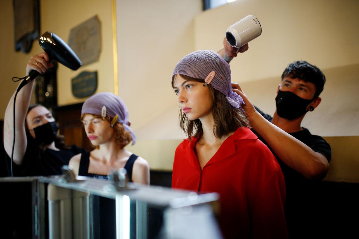 Backstage at London Fashion Week - Lady Gabriella Windsor