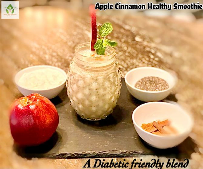Apple Cinnamon Healthy Smoothie