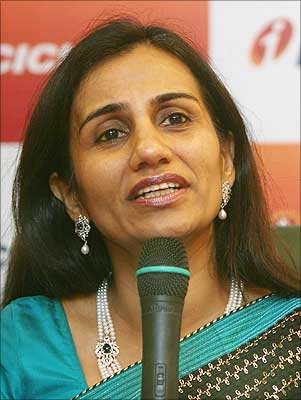 India's ICICI Bank's new chief executive officer Chanda Kochhar speaks during a news conference in Mumbai.