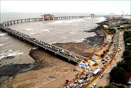 The sea link is expected to reduce travel time between the two points from the present 60-90-minutes to 10 minutes.