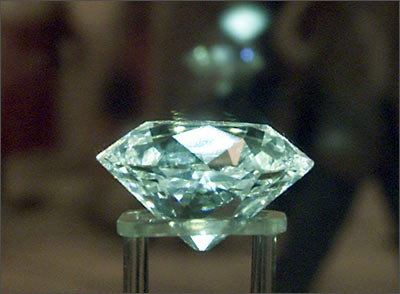 The Imperial diamond, now known as the Jacob diamond, is displayed in the National Musuem in New Delhi.
