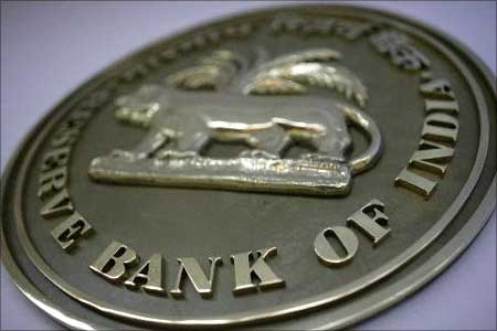 Fiscal policy: The Reserve Bank of India emblem.