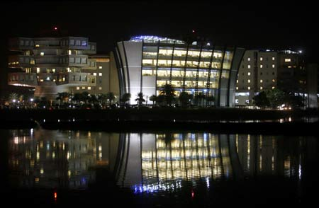 A view of Bhagmane Tech Park in Bangalore.