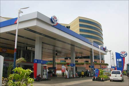 An HPCL petrol outlet in Mumbai.
