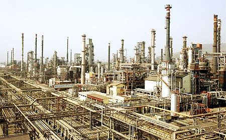 A view of Bharat Petroleum Corporation Ltd refinery in Mumbai.