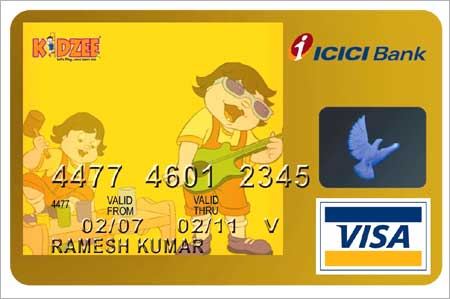 One of ICICI's many credit cards.