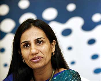 Chanda Kochhar, CEO and MD, ICICI Bank.