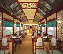 An artist's impression of the pantry car.