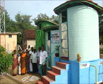 Toilets for girls in a school in South India.
