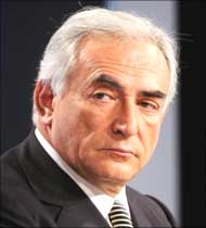 International Monetary Fund managing director, Dominique Strauss-Kahn