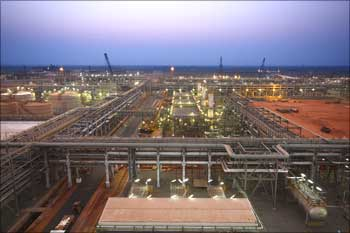 Reliance Industries KG-D6's facility located in Andhra Pradesh.