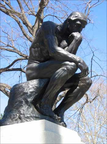 The Thinker is a bronze and marble sculpture by Auguste Rodin.
