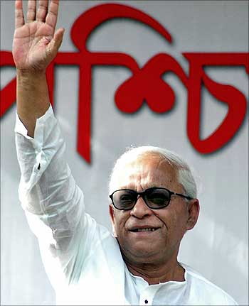 West Bengal Chief Minister Buddhadeb Bhattacharjee.