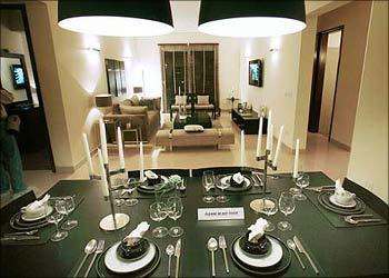 A View Of The Living Room In Luxury Apartment Mumbai